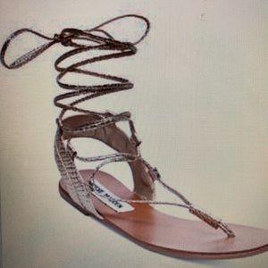 Steve Madden Walkitt Lace-Up-Leg Sandals